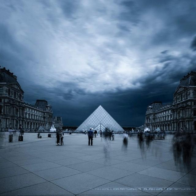 Paris Louvre orage 9 juin