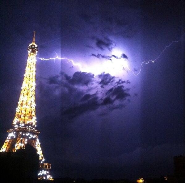 Paris orage 8 juin 2014