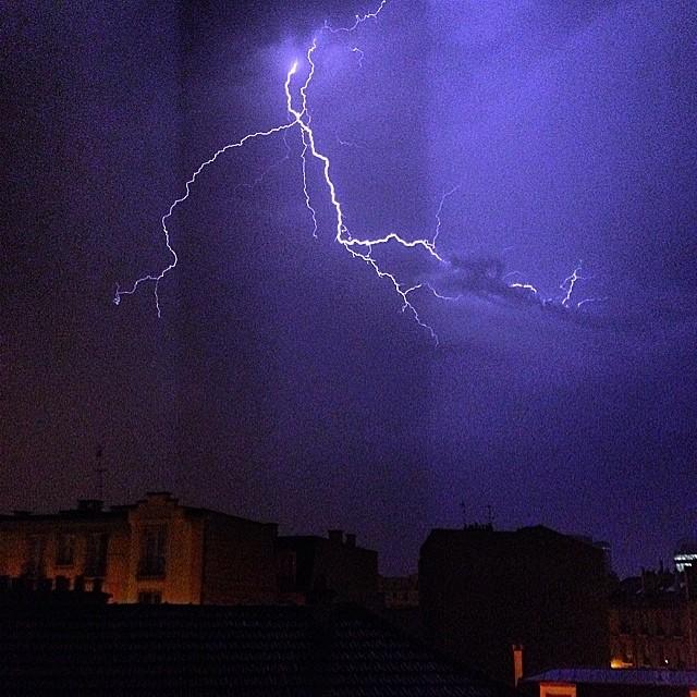 éclair orage 9 juin 2014 Paris